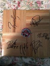 Toronto Raptors Autographed FloorBoard Team Signed NBA 12x12 6 autos on board!