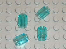 4 x LEGO TrLtBlue Brick 1 x 1 Round with Hollow Stud 3062b /9499 7931 9498 70010