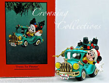 Enesco Disney Trees to Please Ornament Mickey Mouse Truck Treasury of Christmas