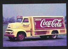 COCA COLA BOTTLING COMPANY DELIVERY TRUCK COKE ADVERTISING POSTCARD COPY