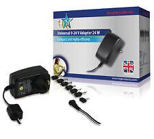 Adaptador de corriente alterna universal de 9 – 24 V de salida de 24W 6 Intercambiable Power Tips enchufe de Reino Unido