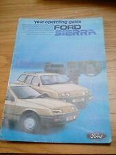 Ford Sierra Operating guide livret NOS