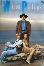 Rare Wilson Phillips Debut Album 1990 Vintage Music Record Store Promo Poster
