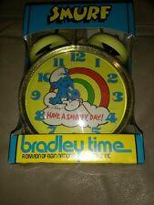 Vintage New Smurf Alarm Clock Bradley time Have A Smurf Day!