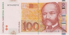 Croatian banknote - 100 Kuna 2002 Replacement Z serial suffix - Uncirculated !