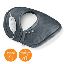 Beurer HK54 Shoulder & Neck Electric Heating Cosy Warming Pad - Grey