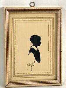 Wood Framed Silhouette Hand Cut Signed By Artist Robt. Robert Singleton Art 1939