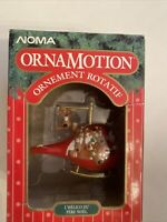 New Vintage NOMA OrnaMotion Rotating Ornament Kringle Kopter Helicopter 1989