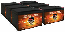 QTY 6 VMAX64 12V 15Ah Rechargeable AGM SLA Sealed Battery 12 Volt 15Ah Batteries