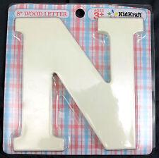 KidKraft - 8 inch Wood Letter N White