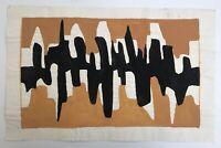 Aquarell Komposition mit Wellen Modern Midcentury Art Vera Stoss Deutsche Kunst