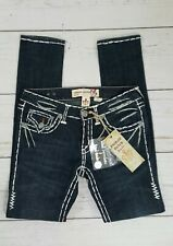NWT Laguna Beach Women's Jeans Size 27 Blue Jeans White Stitch