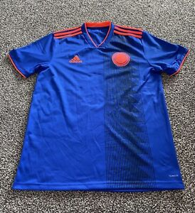 Men's Federacion Colombianna De Futbol Football Shirt Adidas Size Medium