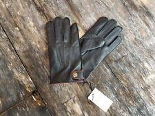 DENTS men's L NEW leather evening driving lined black James Bond gloves