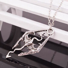 Fashion Elder Scrolls Pendant Charm Skyrim Dragon Chain Necklace Jewelry Band