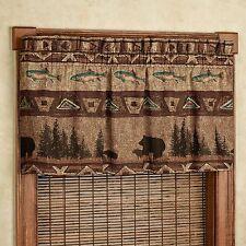 Croscill Bear Mountain Fish Cabin Lodge Window Valance Brand New In Package
