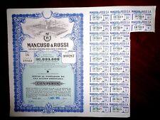 Mancuso & Rossi  Sa, Argentina Share certificate 1960