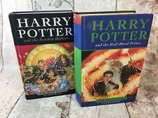 Harry Potter 1st Editions Half Blood Prince With Misprint & Deathly Hallows