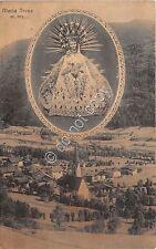 Cartolina - Postcard - Maria Trens - Panorama - riquadro Vergine - anni '20