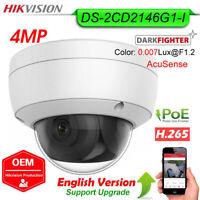 Hikvision AcuSense 4MP IP Dome Camera H.265 POE IR WDR IP67 DS-2CD2146G1-I OEM