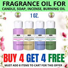 Fragrance Oil For Diy Candle Soap Burning Oil Incense Lotion Cream Making 1oz.