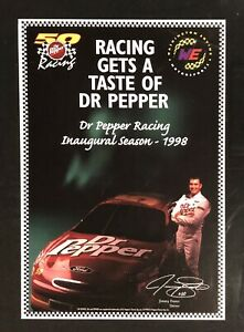 Vintage NASCAR 1998 Dr Pepper Racing Inaugural Season Poster Jimmy Foster NEW