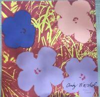 Andy Warhol Fiori Floreals  60x60 cm Certificato di autenticita/'