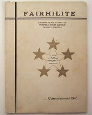 1945 Fairfield High School Yearbook - The Fairhilite - Va Virginia Rockbridge