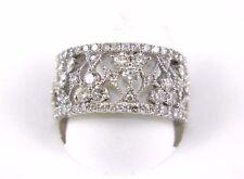 Fine Wide Spiderweb Diamond Filigree Fashion Ring Band 14k White Gold 3.50Ct