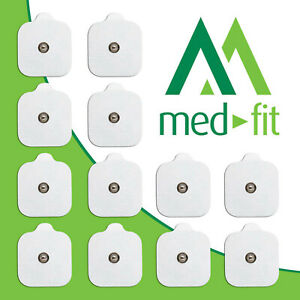 MED-FIT 5x5cm Pack of 12 Flexi iStim 3.5mm Stud TENS Self-Adhesive Pads