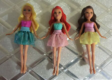 """4"""" Small Mini dolls Funville Sparkle Girlz lot Blond brunette Red Cute doll lot"""