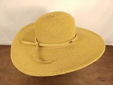 WOMENS HANDCRAFTED SCALA COLLECTION STRAW WIDE BRIM SUN HAT EXCELLENT 1e0a6df47dd7