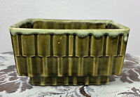 Vintage Cookson Pottery USA CP-336 Green Drip Footed Herb/Flower Pot Planter