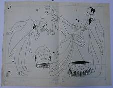 Grand Dessin Original Illustration JEAN MARA Scène Véra Korène