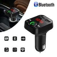 2 USB In-Car Charger Bluetooth FM Transmitter Radio MP3 Wireless Adapter Car Kit