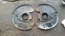 1979 Datsun 210 Brake Rotor Front Left and Right Backing Shield