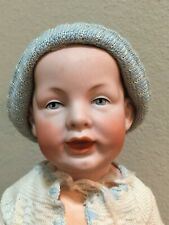 RARE Mold #1267 Antique Franz Schmidt Baby Doll - Painted Eyes