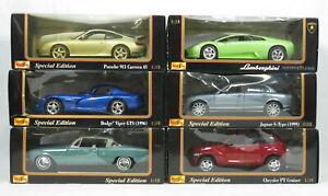 Lot 6 Maisto Diecast Special Edition Cars Dodge Viper GTS Lamborghini Studebaker