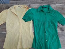 Ladies Shirt Blouse Bundle Yellow Green Bright Colourful Primark Size 8