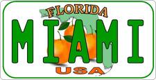"""11 x 5"""" Miami Floride-Personnalisé Métal Signe-licence plaque style 219"""