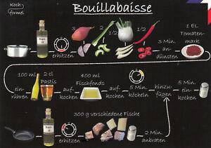 Karte: bebildertes Rezept - Bouillabaisse