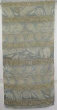 TERRIART Blue, Khaki, Ivory Graphic Stripes Sheer 60x15 Long Scarf-Vintage