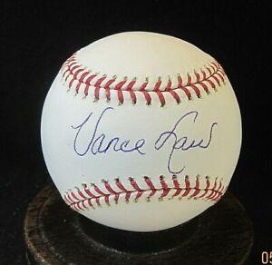 Vance Law Signed OML Baseball COA, White Sox, Expos, Cubs, Pirates, Athletics
