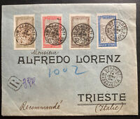 1924 Dzaoudzi Madagascar Registered Cover To Trieste Italy