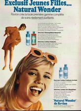 K- Publicité Advertising 1968 Cosmétique crème lotion Natural Wonder de Revlon