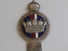 J R Gaunt London. Royal Navy Car Club Badge. Kings Crown. Pre War.