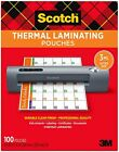 Scotch Thermal Laminating Pouches 100-Pack 8.9 x 11.4 inches 3 ml thick Sheets