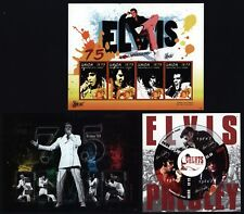 Union Island 2010 - King Elvis Presley - 75. Geburtstag - 3 Kleinbogen komplett