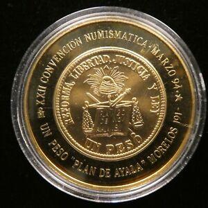 1994 XXII Convencion Numismatica De Mexico Laton Medal (C129)