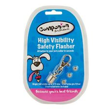 Bright Pet Safety Hi Visibility Flasher Dog Cat LED Light Collar Tag High Viz
